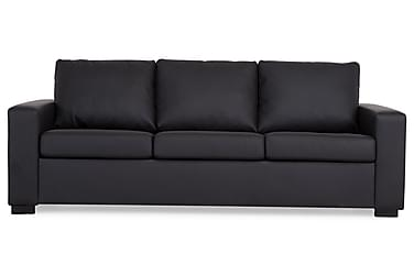 NEW YORK 3-seters Sofa Kunstlær Svart