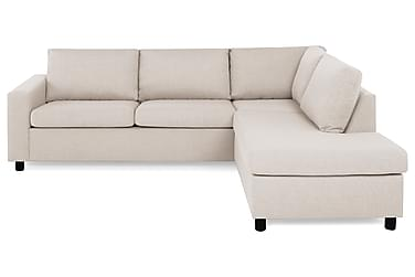 NEW YORK 2,5-seters Sofa med Sjeselong Høyre Beige