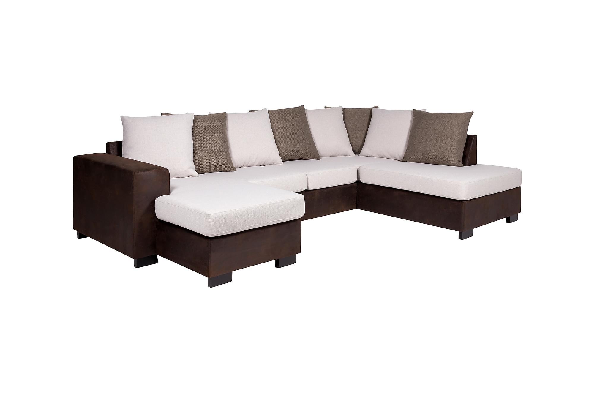 berlin large u sofa h yre beige brun hj rnesofa sofaer. Black Bedroom Furniture Sets. Home Design Ideas
