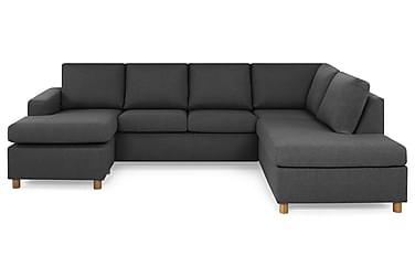 NEW YORK U-sofa Large Divan Venstre Mørkegrå